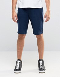 Armani Jeans Sweat Shorts With Logo In Navy Navy