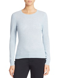 Lord And Taylor Cashmere Crewneck Sweater Cool Blue Heather