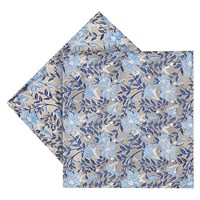 Duchamp Luminus Floral Silk Pocket Square Blue