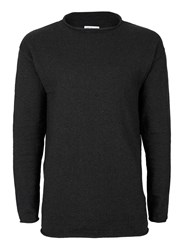 Topman Selected Homme Dark Grey Lightweight Sweater