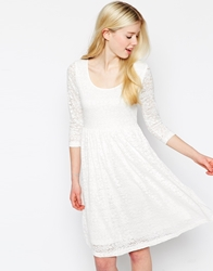 Max C London Max C Skater Dress In Lace White