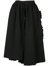 Comme Des Garcons Pleated Skirt Women Polyester Xs Black