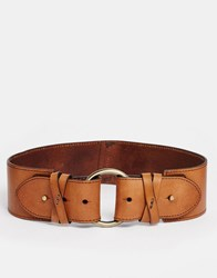 Abercrombie And Fitch 70'S Wide Waisted Belt Tan