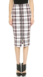 Nicholas Woven Check Pencil Skirt Grey Check