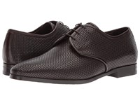 Canali Woven Oxford Brown Men's Slip On Shoes