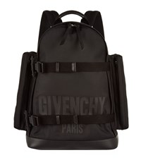 Givenchy Double Strap Logo Canvas Backpack Unisex Black