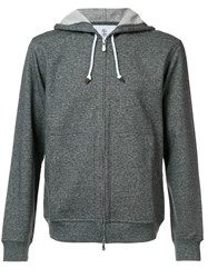 Brunello Cucinelli Zipped Hoodie Grey