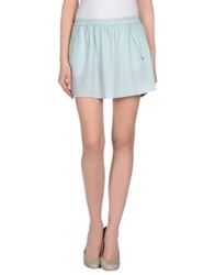 Maison Scotch Mini Skirts Light Green