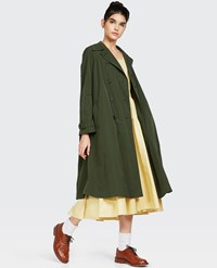 Aspesi Double Breasted Raincoat Green