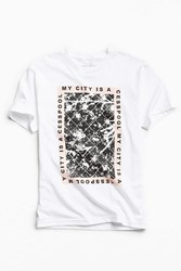 Urban Outfitters Uo Artist Editions Chris Morrison Cesspool Tee White