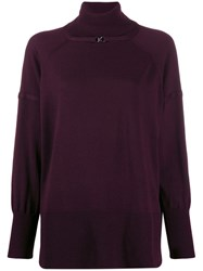 Pinko Rollneck Wool Sweater Red