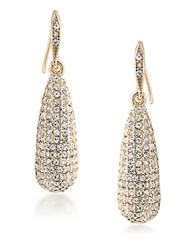 Carolee Lincoln Center Long Pave Teardrop Earrings