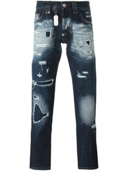 Philipp Plein Distressed Jeans Blue