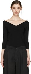 Studio Nicholson Black Off The Shoulder Pullover