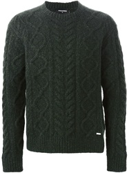 Dsquared2 Cable Knit Sweater Green