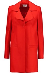 Carven Cotton Twill Coat Red