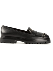 Alexander Mcqueen Studded Loafers Black
