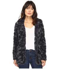 Dylan By True Grit Silky Faux Fur Classic Coat With Fur Lining Vintage Black Women's Coat
