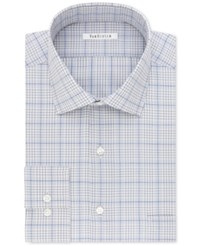 Van Heusen Men's Classic Regular Fit Wrinkle Free Check Dress Shirt Blue