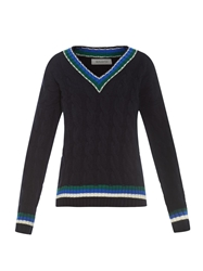 And Daughter Cricket Style Aran Knit Wool Sweater