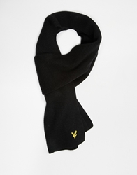 Lyle And Scott Ribbed Scarf Black