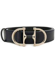 D.Exterior Oversized Buckle Belt Blue