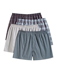 Jockey Four Pack Stay New Full Cut Boxers Assorted Plaid