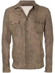 Salvatore Santoro Button Down Fitted Jacket Brown