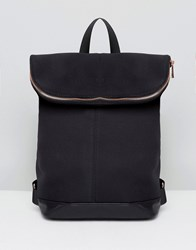 Asos Scuba Backpack With Rose Gold Zip Black
