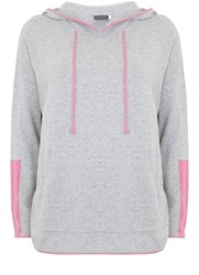 Mint Velvet Silver Grey And Pink Tipped Sporty Knit Grey