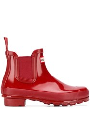 Hunter Ankle Boots Red