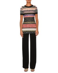 Missoni Knit Short Sleeve Tunic Top Multi