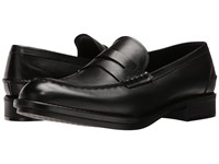 Z Zegna Parsons Smooth Calf Loafer Black Men's Slip On Dress Shoes