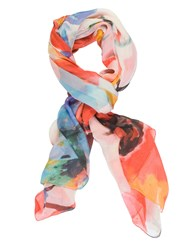 Chesca Abstract Floral Printed Scarf Multi Coloured Multi Coloured