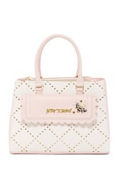 Betsey Johnson Laser Cut Satchel Pink