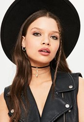 Missguided Gold Simple Three Pack Chokers