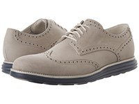 Cole Haan Original Grand Wing Oxford Barley Nubuck Ivory Washed Indigo Men's Lace Up Casual Shoes Gray