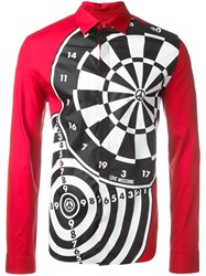 Love Moschino Dartboard Print Shirt Red