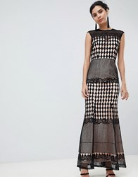 Little Mistress Crochet Maxi Dress Black