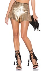 Nbd Su2c X Revolve Make It Shine Shorts Metallic Gold