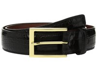 Torino Leather Co. 35Mm Gator Grain Embossed Calf Black Belts