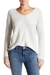 Joie Anice V Neck Cable Knit Sweater Multi
