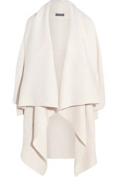 Alexander Mcqueen Draped Wool And Cashmere Blend Cardigan Ivory