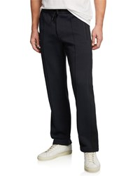 Theory Quilted Ponte Pelham Slim Lounge Pants Eclipse