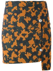 Versus Camouflage Fitted Skirt Green