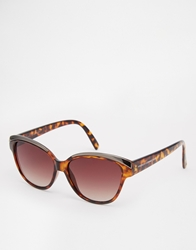 French Connection Tortoiseshell Effect Sunglasses Brown