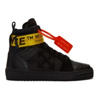 Off White Black Industrial High Top Sneakers