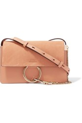 Chloe Faye Small Leather And Suede Shoulder Bag Blush