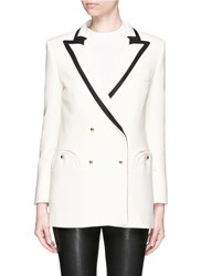 Blaze Milano 'Resolute Cream' Contrast Trim Wool Everyday Blazer White