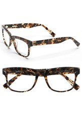 Women's Derek Lam 51Mm Optical Glasses Brown Marble